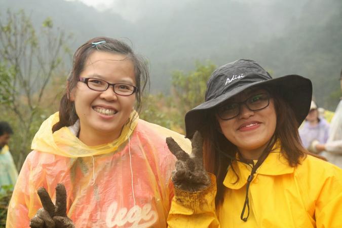 志工培訓課程期間前往雙連埤,復育水杜柳族群。